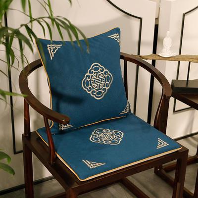 2020新款新中式椅垫 38*45*3 坐垫 悦轩阁蓝