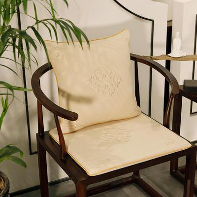 2020新款新中式椅垫 38*45*3 坐垫 悦轩阁米白