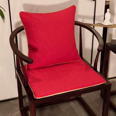 2020新款新中式椅垫 38*45*3 坐垫 平织红