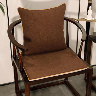 2020新款新中式椅垫 38*45*3 坐垫 平织咖