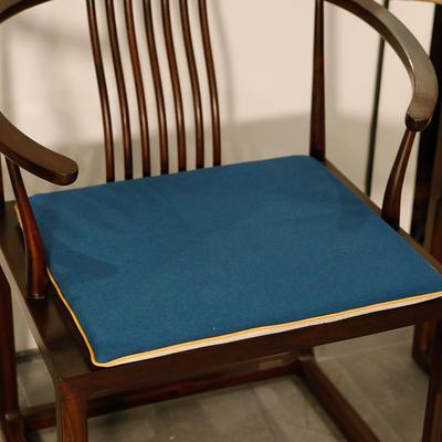 2020新款新中式椅垫 38*45*3 坐垫 平织蓝