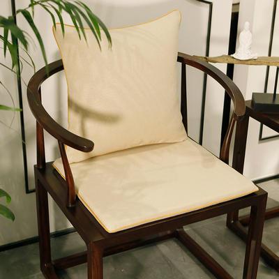 2020新款新中式椅垫 38*45*3 坐垫 平织米白