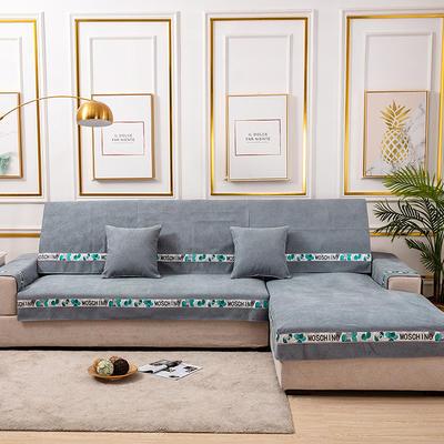 2020新款-北欧风菱格系列沙发图垫 抱枕套45*45(不含芯) 菱格灰