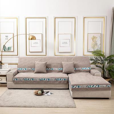 2020新款-北欧风菱格系列沙发图垫 70*70cm(单人位靠背巾) 菱格卡其