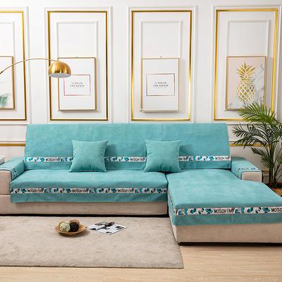 2020新款-北欧风菱格系列沙发图垫 70*70cm(单人位靠背巾) 菱格绿