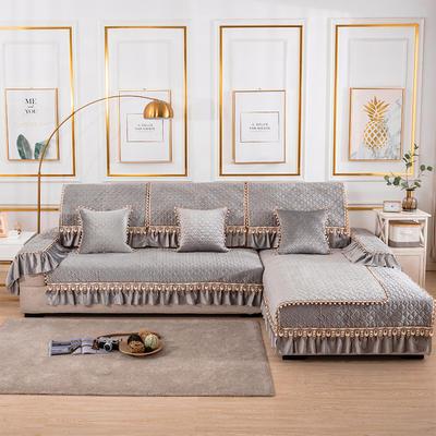 2020新款-荷兰绒沙发垫梦境系列 扶手38*70(三面20cm垂边) 梦境灰