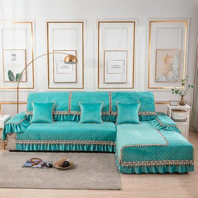 2020新款-荷兰绒沙发垫梦境系列 扶手38*70(三面20cm垂边) 梦境绿