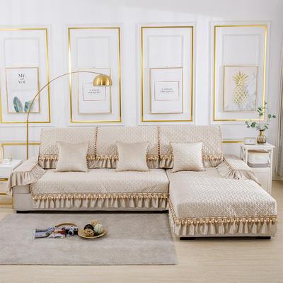 2020新款-荷兰绒沙发垫梦境系列 扶手38*70(三面20cm垂边) 梦境米色