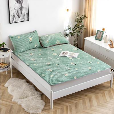 2020新款-简约夹棉床护垫 120*200cm 小雏菊绿