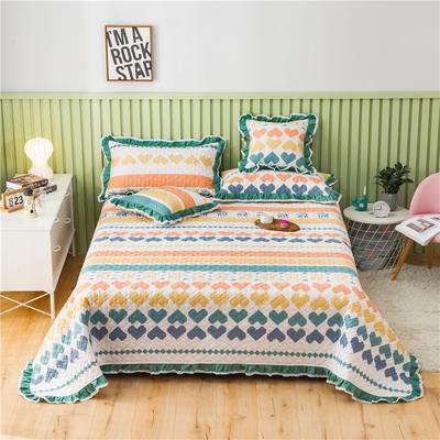 2021全棉床盖系列-床盖 150cmx230cm 爱心鹿