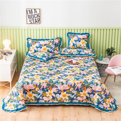 2021全棉床盖系列-床盖 150cmx230cm 花花世界