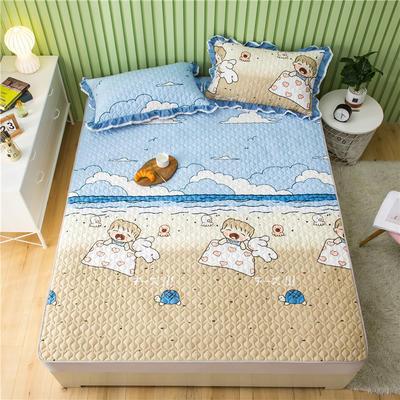 2021全棉床盖系列 -床护垫 120*200 夏威夷