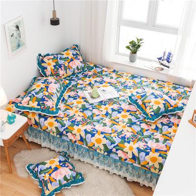 2021全棉床盖系列--榻榻米 215cm+20边*230 花花世界
