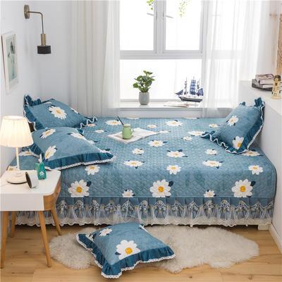 2021全棉床盖系列--榻榻米 215cm+20边*230 向阳花