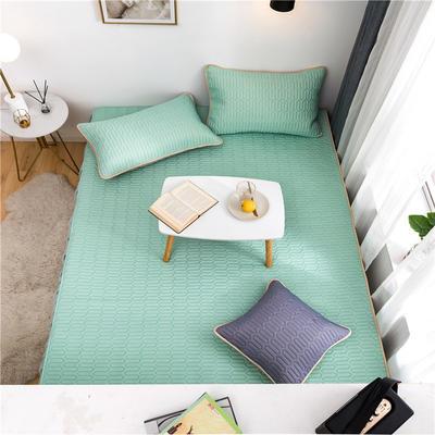 2021新款凉感丝乳胶榻榻米垫 150*200cm单床盖 乳胶草绿