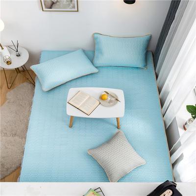 2021新款凉感丝乳胶榻榻米垫 150*200cm单床盖 乳胶天蓝