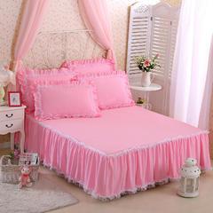 爱洛床裙 枕套一对48*74 粉色