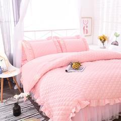 爱丽丝床裙四件套单品 枕套一对48*74 嫩粉色