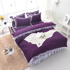 洛丽塔床裙四件套单品 枕套一对48*74 魅紫(夹棉)