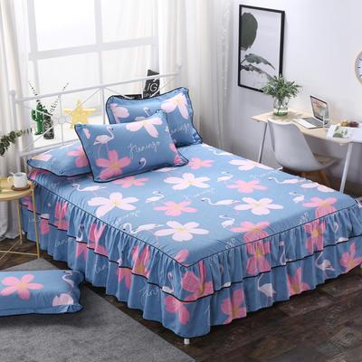 2019新款-双层裙摆床裙单品/单枕套 单枕套一对 火鸟