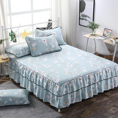 2019新款-双层裙摆床裙单品/单枕套 单枕套一对 金枝玉叶