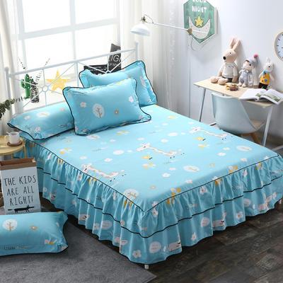 2019新款-双层裙摆床裙单品/单枕套 单枕套一对 小鹿