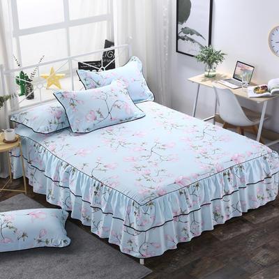 2019新款-双层裙摆床裙单品/单枕套 单枕套一对 雨梦兰心
