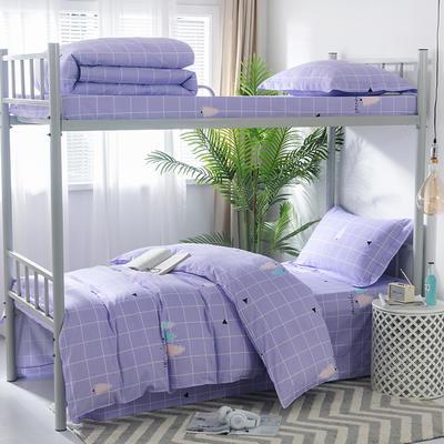 2019新款-暖绒儿童三件套 1.5m(5英尺)床 格莱美-紫