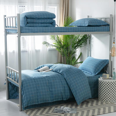 2019新款-暖绒儿童三件套 1.5m(5英尺)床 简宜空间-绿