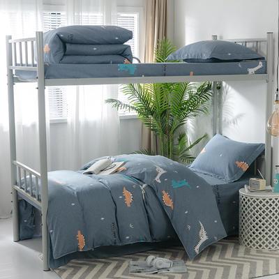 2019新款-暖绒儿童三件套 1.5m(5英尺)床 侏罗纪-灰