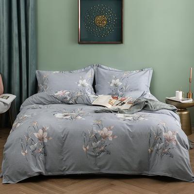 2019新款全棉生态磨毛四件套 2.0m标准床单款 芭莎花语-