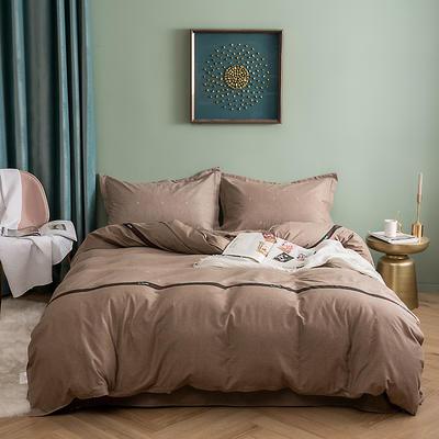 2019新款全棉磨毛四件套 2.0m标准床单款 夏洛尔斯