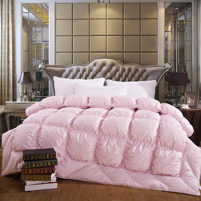 2019新款经典多维空间羽绒被95%白鹅绒被 200*230白鸭绒5.6斤 粉色