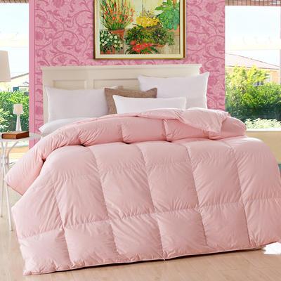 2019新款佳品羽绒被鸭绒被 160*210cm白鸭绒3.8斤 粉色