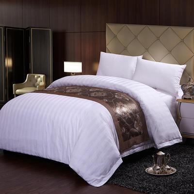 新款全棉40支三公分缎条宾馆酒店套件系列纯棉民宿四件套 1.2m床单款 床单款四件套(3CM加密)