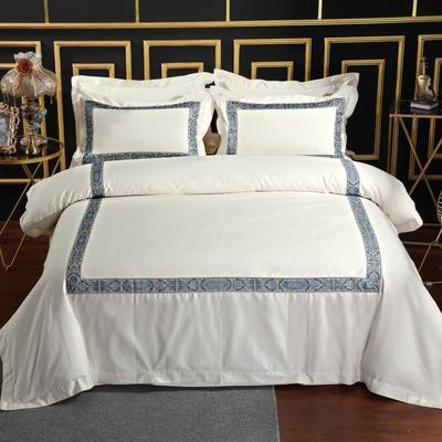 2019新款宾馆套件60x60支裸棉四件套系列酒店全棉纯棉四件套 1.5m-1.8m床单款 16