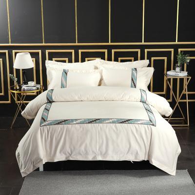 2019新款宾馆套件60x60支裸棉四件套系列酒店全棉纯棉四件套 1.5m-1.8m床单款 17