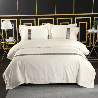 2019新款宾馆套件60x60支裸棉四件套系列酒店全棉纯棉四件套 1.5m-1.8m床单款 19