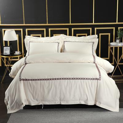 2019新款宾馆套件60x60支裸棉四件套系列酒店全棉纯棉四件套 1.5m-1.8m床单款 20