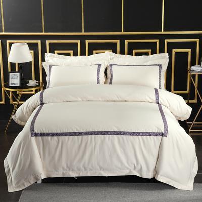 2019新款宾馆套件60x60支裸棉四件套系列酒店全棉纯棉四件套 1.5m-1.8m床单款 21