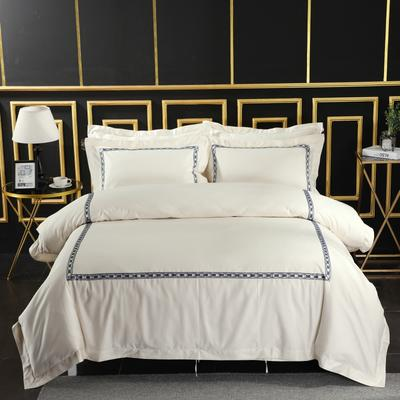 2019新款宾馆套件60x60支裸棉四件套系列酒店全棉纯棉四件套 1.5m-1.8m床单款 22