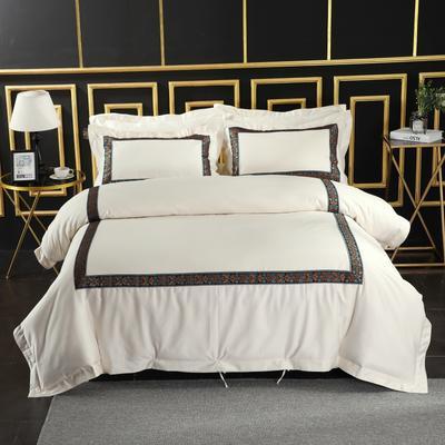 2019新款宾馆套件60x60支裸棉四件套系列酒店全棉纯棉四件套 1.5m-1.8m床单款 23