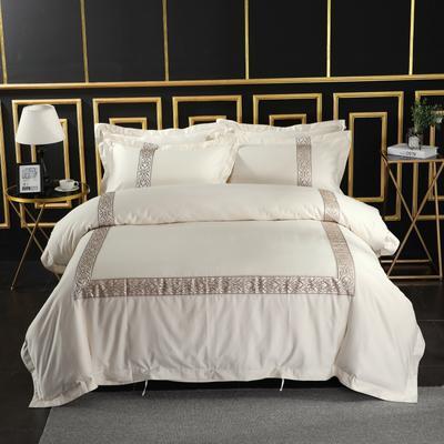 2019新款宾馆套件60x60支裸棉四件套系列酒店全棉纯棉四件套 1.5m-1.8m床单款 24