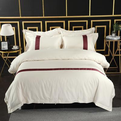 2019新款宾馆套件60x60支裸棉四件套系列酒店全棉纯棉四件套 1.5m-1.8m床单款 26