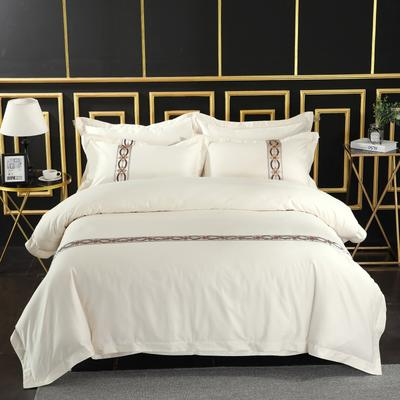 2019新款宾馆套件60x60支裸棉四件套系列酒店全棉纯棉四件套 1.5m-1.8m床单款 27