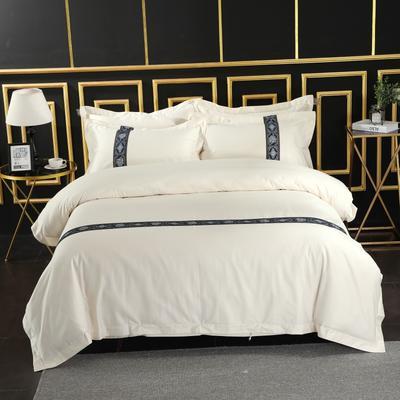 2019新款宾馆套件60x60支裸棉四件套系列酒店全棉纯棉四件套 1.5m-1.8m床单款 28