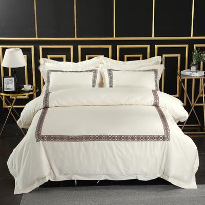 2019新款宾馆套件60x60支裸棉四件套系列酒店全棉纯棉四件套 1.5m-1.8m床单款 29