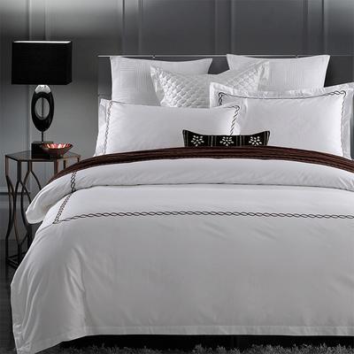 新款60支全棉宾馆套件纯棉酒店民宿四件套 1.5m-1.8m床单款 香格里拉