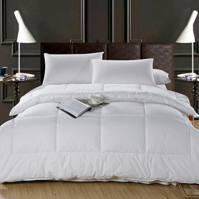 2020新款全棉酒店夏被宾馆民宿纯棉防羽布被子 150x200cm 白