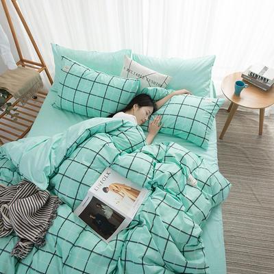 2020新款亲肤格调系列四件套 1.2m床单款三件套 7格调-艾绿